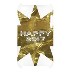 Happy New Year 2017 Gold White Star Apple iPod Touch 4