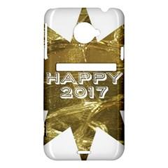 Happy New Year 2017 Gold White Star HTC Evo 4G LTE Hardshell Case