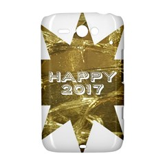 Happy New Year 2017 Gold White Star HTC ChaCha / HTC Status Hardshell Case