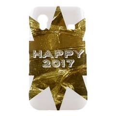 Happy New Year 2017 Gold White Star Samsung Galaxy Ace S5830 Hardshell Case
