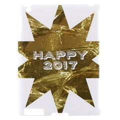 Happy New Year 2017 Gold White Star Apple iPad 2 Hardshell Case (Compatible with Smart Cover)