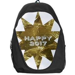 Happy New Year 2017 Gold White Star Backpack Bag