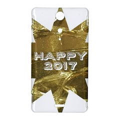 Happy New Year 2017 Gold White Star Sony Xperia TX