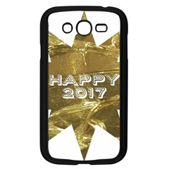 Happy New Year 2017 Gold White Star Samsung Galaxy Grand DUOS I9082 Case (Black)