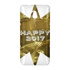 Happy New Year 2017 Gold White Star HTC One Mini (601e) M4 Hardshell Case