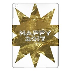 Happy New Year 2017 Gold White Star Ipad Air Hardshell Cases