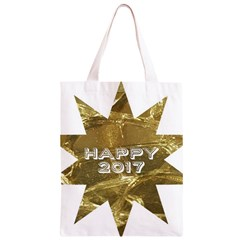 Happy New Year 2017 Gold White Star Classic Light Tote Bag