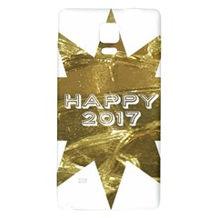 Happy New Year 2017 Gold White Star Galaxy Note 4 Back Case