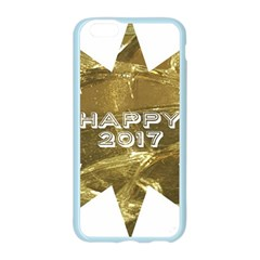 Happy New Year 2017 Gold White Star Apple Seamless iPhone 6/6S Case (Color)