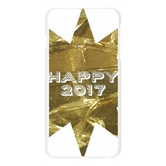 Happy New Year 2017 Gold White Star Apple Seamless iPhone 6 Plus/6S Plus Case (Transparent)