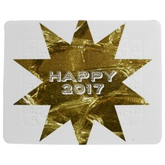 Happy New Year 2017 Gold White Star Jigsaw Puzzle Photo Stand (rectangular)