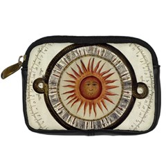 Ancient Aztec Sun Calendar 1790 Vintage Drawing Digital Camera Cases