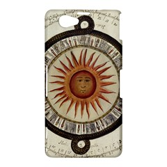 Ancient Aztec Sun Calendar 1790 Vintage Drawing Sony Xperia Z1 Compact