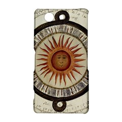 Ancient Aztec Sun Calendar 1790 Vintage Drawing Sony Xperia Z3 Compact