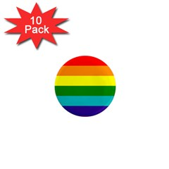 Colorful Stripes Lgbt Rainbow Flag 1  Mini Magnet (10 pack)