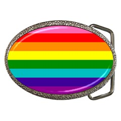 Colorful Stripes Lgbt Rainbow Flag Belt Buckles