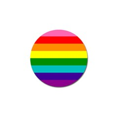 Colorful Stripes Lgbt Rainbow Flag Golf Ball Marker (10 pack)