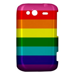 Colorful Stripes Lgbt Rainbow Flag HTC Wildfire S A510e Hardshell Case