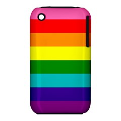 Colorful Stripes Lgbt Rainbow Flag Apple iPhone 3G/3GS Hardshell Case (PC+Silicone)