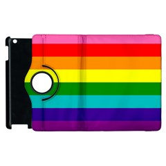 Colorful Stripes Lgbt Rainbow Flag Apple iPad 2 Flip 360 Case