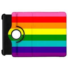 Colorful Stripes Lgbt Rainbow Flag Kindle Fire HD Flip 360 Case