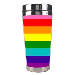 Colorful Stripes Lgbt Rainbow Flag Stainless Steel Travel Tumblers