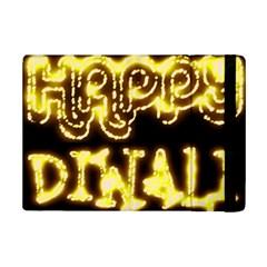 Happy Diwali Yellow Black Typography iPad Mini 2 Flip Cases