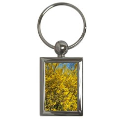 Nature, Yellow Orange Tree Photography Key Chains (Rectangle)