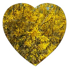 Nature, Yellow Orange Tree Photography Jigsaw Puzzle (Heart)