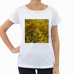 Nature, Yellow Orange Tree Photography Women s Loose-Fit T-Shirt (White)