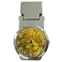 Nature, Yellow Orange Tree Photography Money Clip Watches