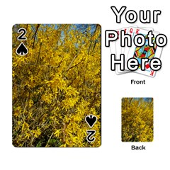 Nature, Yellow Orange Tree Photography Playing Cards 54 Designs