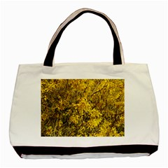 Nature, Yellow Orange Tree Photography Basic Tote Bag (Two Sides)