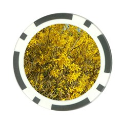 Nature, Yellow Orange Tree Photography Poker Chip Card Guards