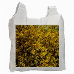 Nature, Yellow Orange Tree Photography Recycle Bag (two Side)