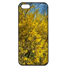 Nature, Yellow Orange Tree Photography Apple iPhone 5 Seamless Case (Black)