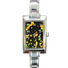 Floating Rectangle Italian Charm Watch