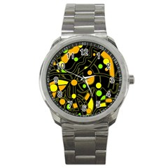 Floating Sport Metal Watch