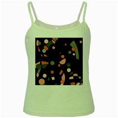 Pink and gray abstraction Green Spaghetti Tank