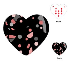 Pink and gray abstraction Playing Cards (Heart)