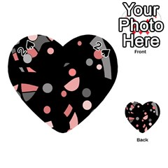 Pink and gray abstraction Playing Cards 54 (Heart)