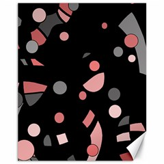 Pink and gray abstraction Canvas 11  x 14