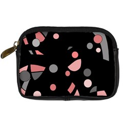 Pink and gray abstraction Digital Camera Cases