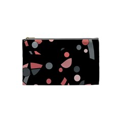 Pink and gray abstraction Cosmetic Bag (Small)