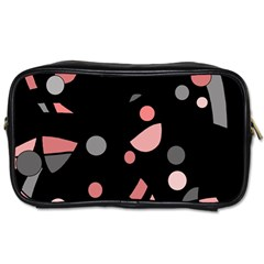 Pink and gray abstraction Toiletries Bags