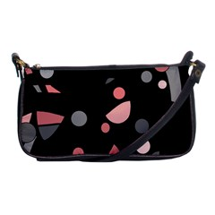 Pink and gray abstraction Shoulder Clutch Bags