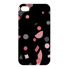 Pink and gray abstraction Apple iPhone 4/4S Hardshell Case