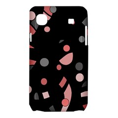 Pink and gray abstraction Samsung Galaxy SL i9003 Hardshell Case