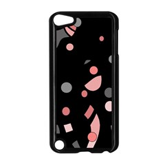 Pink and gray abstraction Apple iPod Touch 5 Case (Black)