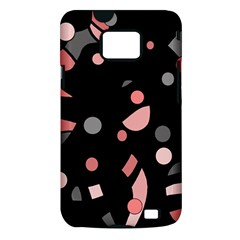 Pink and gray abstraction Samsung Galaxy S II i9100 Hardshell Case (PC+Silicone)